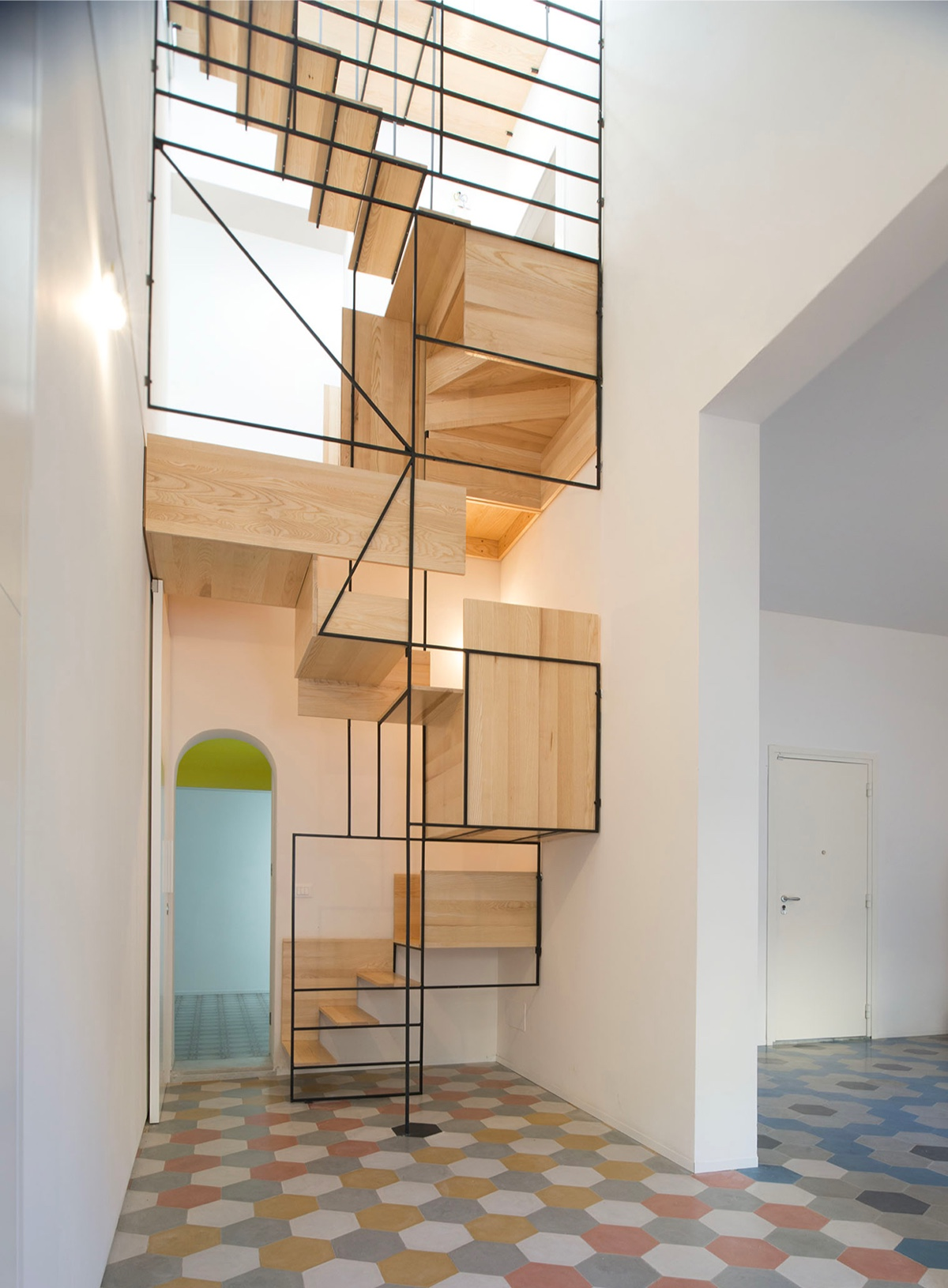 artistic-staircase-installation