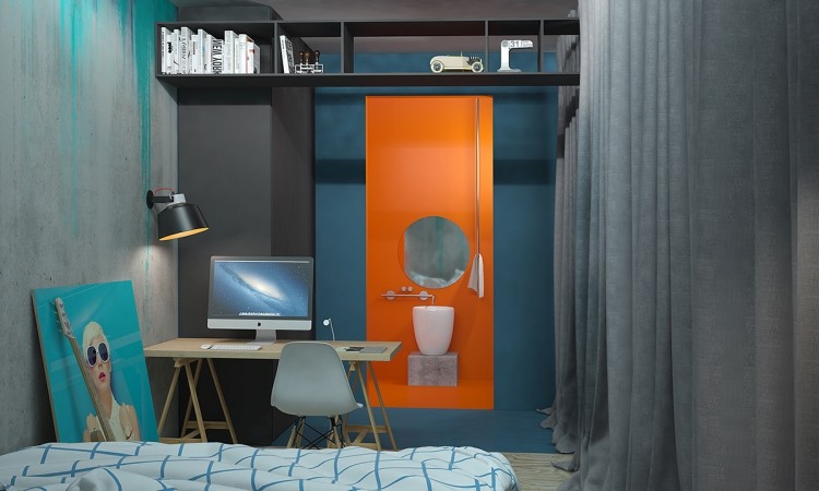 orange-and-blue-bedroom-decor